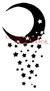 Nice Star Tattoos With Image Tattoo Designs Especially Moon Star Tattoo Picture 9