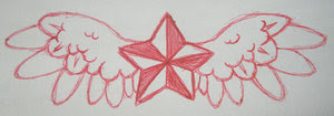 Nice Star Tattoos With Image Tattoo Designs Especially Wings Star Tattoo Picture 4