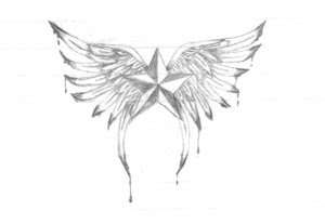 Nice Star Tattoos With Image Tattoo Designs Especially Star Wings Tattoo Picture 4