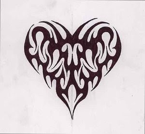 all heart tattoo heart tattoos with image heart tattoo designs especially tribal heart tattoo. Black Bedroom Furniture Sets. Home Design Ideas