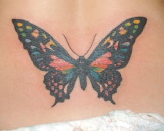 Nice Butterfly Tattoo With Image Butterfly Tattoo Designs For Female Lower Back Butterfly Tattoos Picture 5