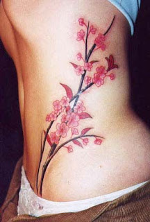Cherry Blossom Tattoo Designs With Image Female Tattoo With Japanese Cherry Blossom Tattoo On The Side Body Picture 6