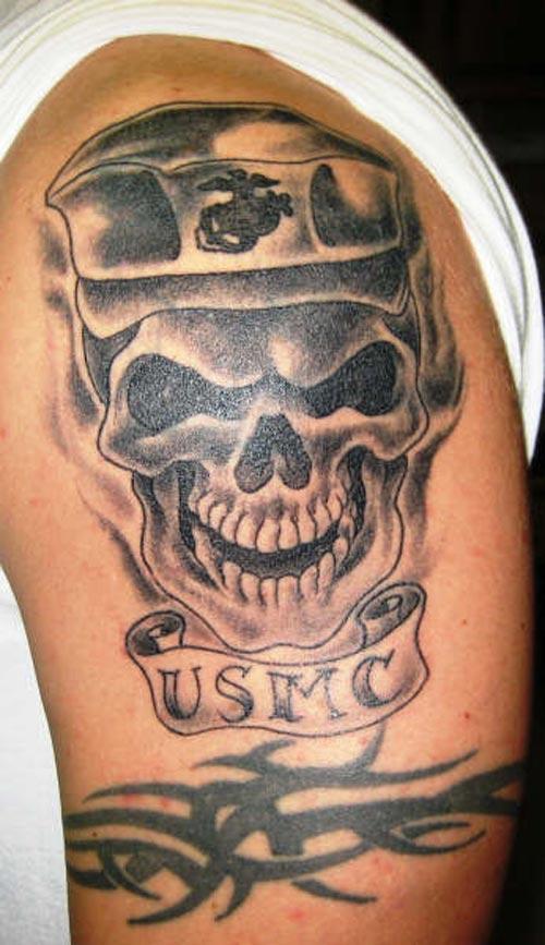 la ink skull tattoos