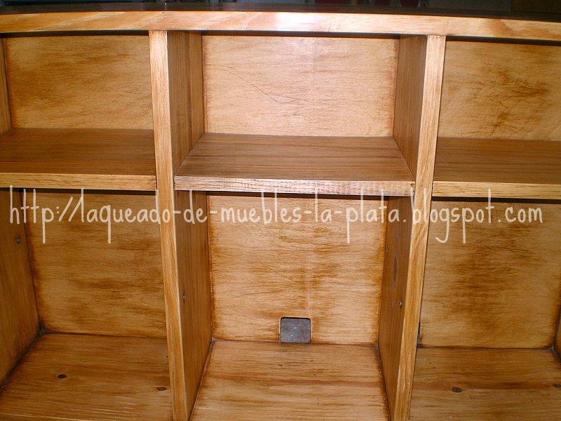 Teñido color roble claro y lavado mueble tv | Muebles de madera ...