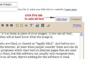 image showing the html tab in the blogger dashboard for accessing the html code in your blog posts
