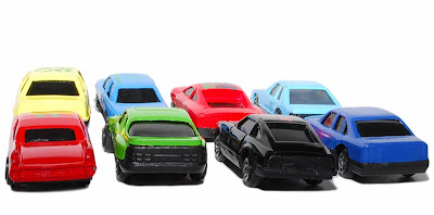 free photo of toy cars, commonly referred to as dinky toys, but not all toy cars are of the dinky brand. This particular lot are a generic brand.