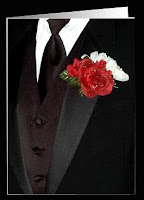 wedding or bridal card for invitation of groomsmen and best man