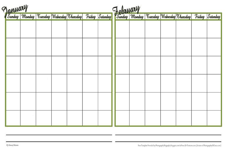 Photography Blography: Even More Calendar Templates