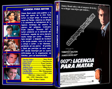 007: Licencia para matar 1989 | Carátula