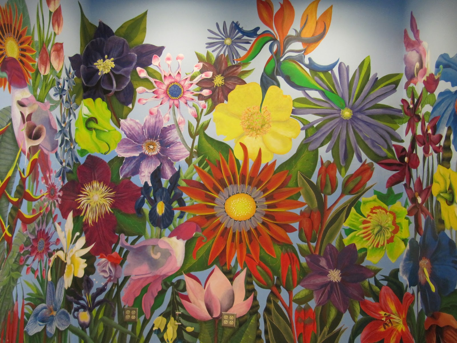 Cre8tive daze flower mural for Mural flower