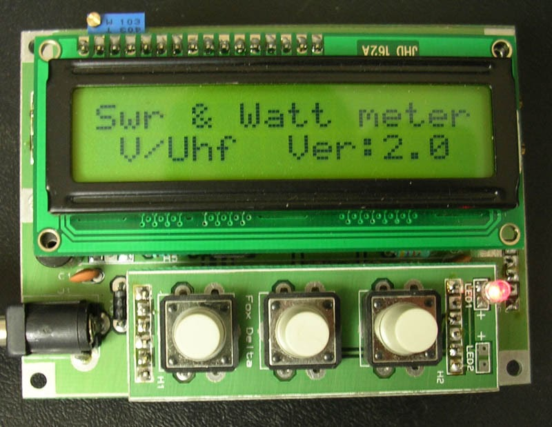 100w Lcd Pic16f88 Swr Meter For Vhf Uhf