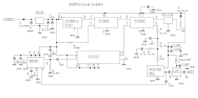 Electronics Technology  Phase Locked Loop  Pll  Oscillator Circuit 860 Mhz