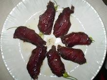 Filetti di daino con olio di nocciola