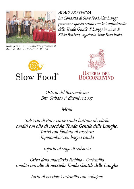 Menu Pariani / Slowfood
