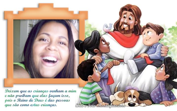 Tia Valéria na Escola Bíblica Infantil