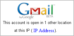 Gmail This account is open in 1 other location