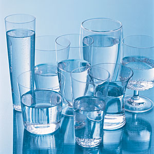influente glasses of water