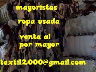 somos mayoristas Importación exportación ropa usada