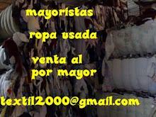 venta de ropa usada y ropa de segunda mano  somos empresa  mayoristas exportadores