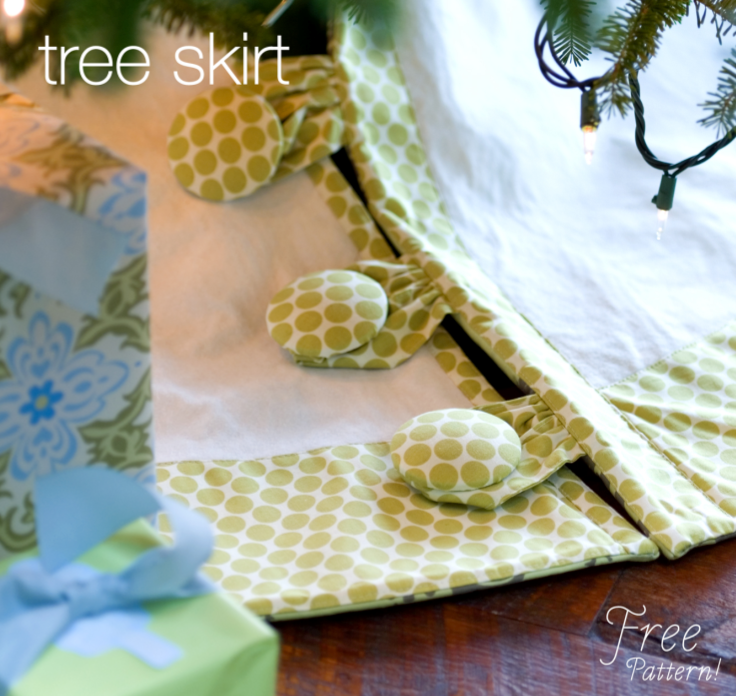 Skirting the issue diy tree skirt bows sparrows