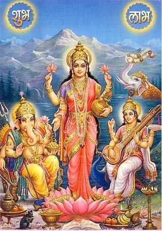 Laksmi, Sarasvti,Ganesha