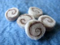 полубусины из войлока для скрапбукинга