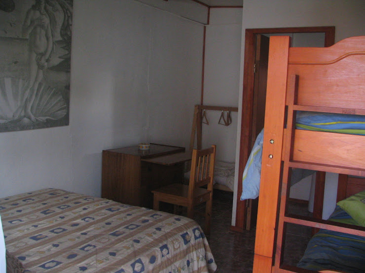 Interior habitacion cabana familiar