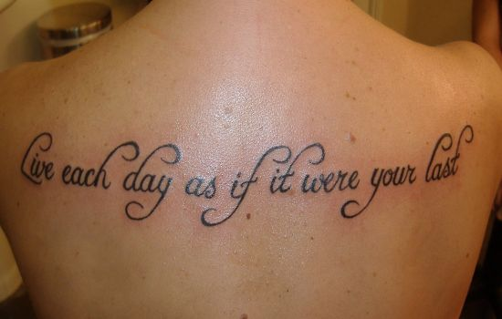 live life tattoo. Judes tattoo
