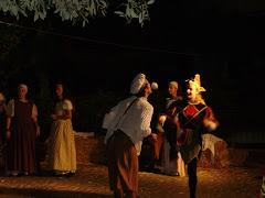 scena di giocolieri medievali
