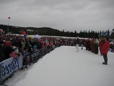 Meg på snøscenen på Barnas Skidag-2010 i Granåsen Skianlegg.