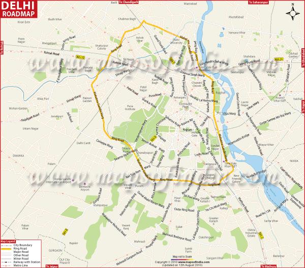 Distance Between Noida City Center To Noida Sector