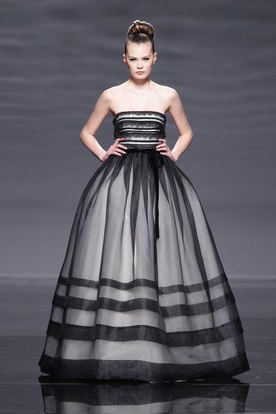 Vestido rosa clara negro