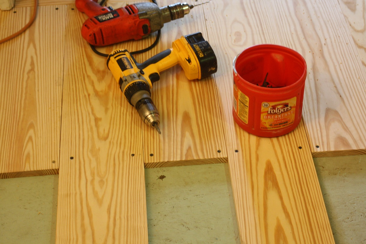 Make your own flooring with 1x6 pine wood floors with jacobean stain solutioingenieria