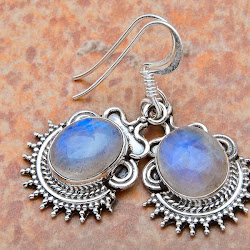 Amazing rainbow moonstone earrings!