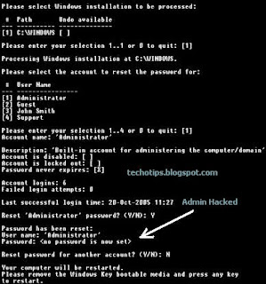 Hack Administrator password