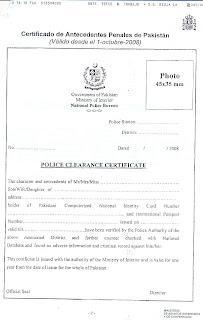 la obligatoriedad de presentar un certificado de antecedentes penales
