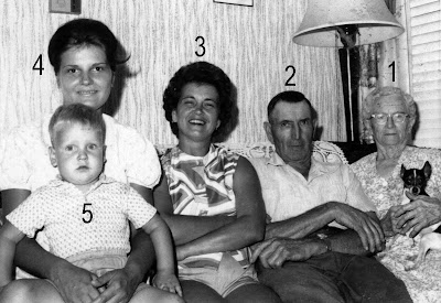 five generations 1 leah mcanney 1878 1969 married isaac loveland 1869 1935 and had son daniel 2 daniel loveland 1899 1991 married myrtle greenlaw