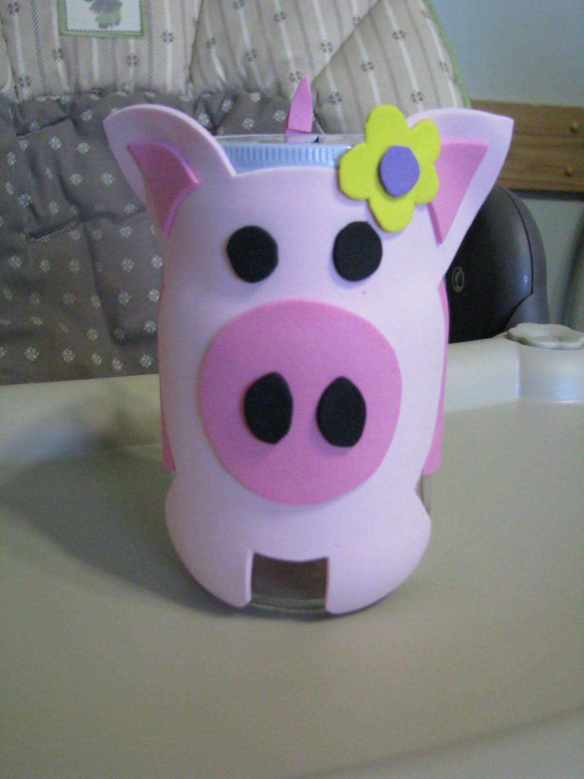 kimberbucket piggy bank craft