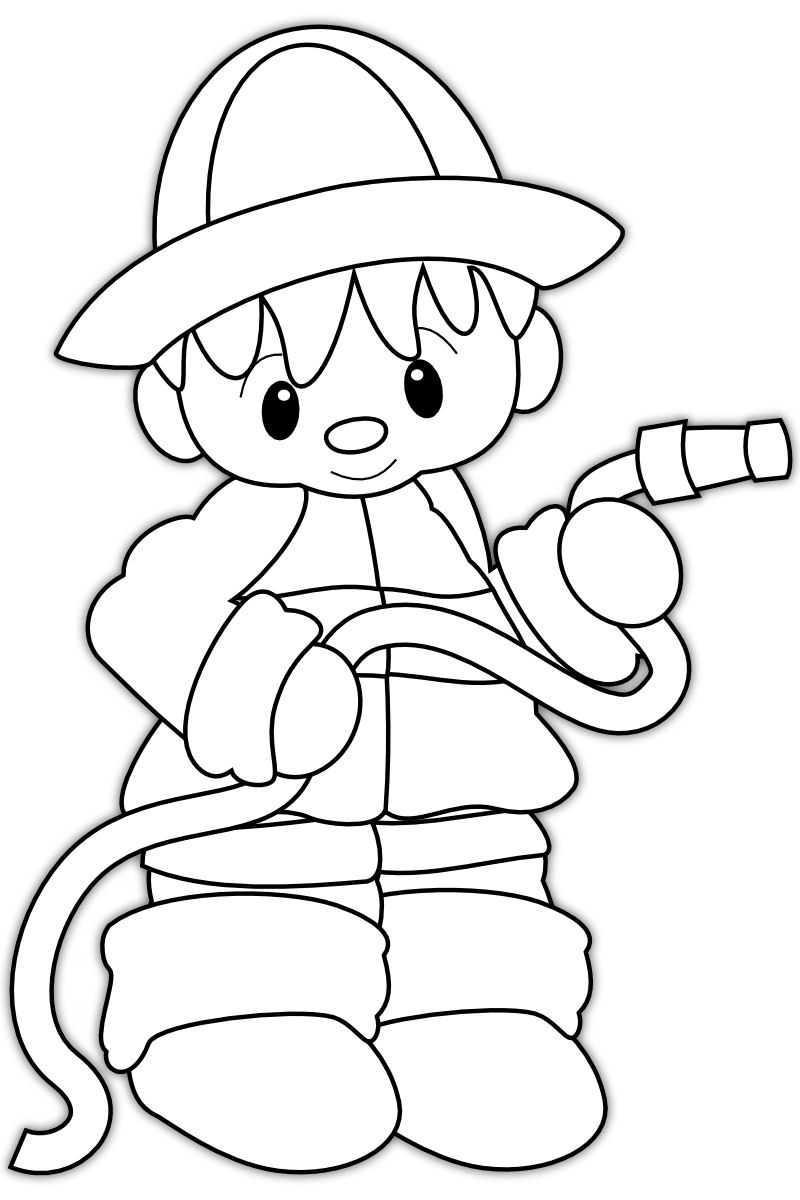 fire man coloring pages - photo#9