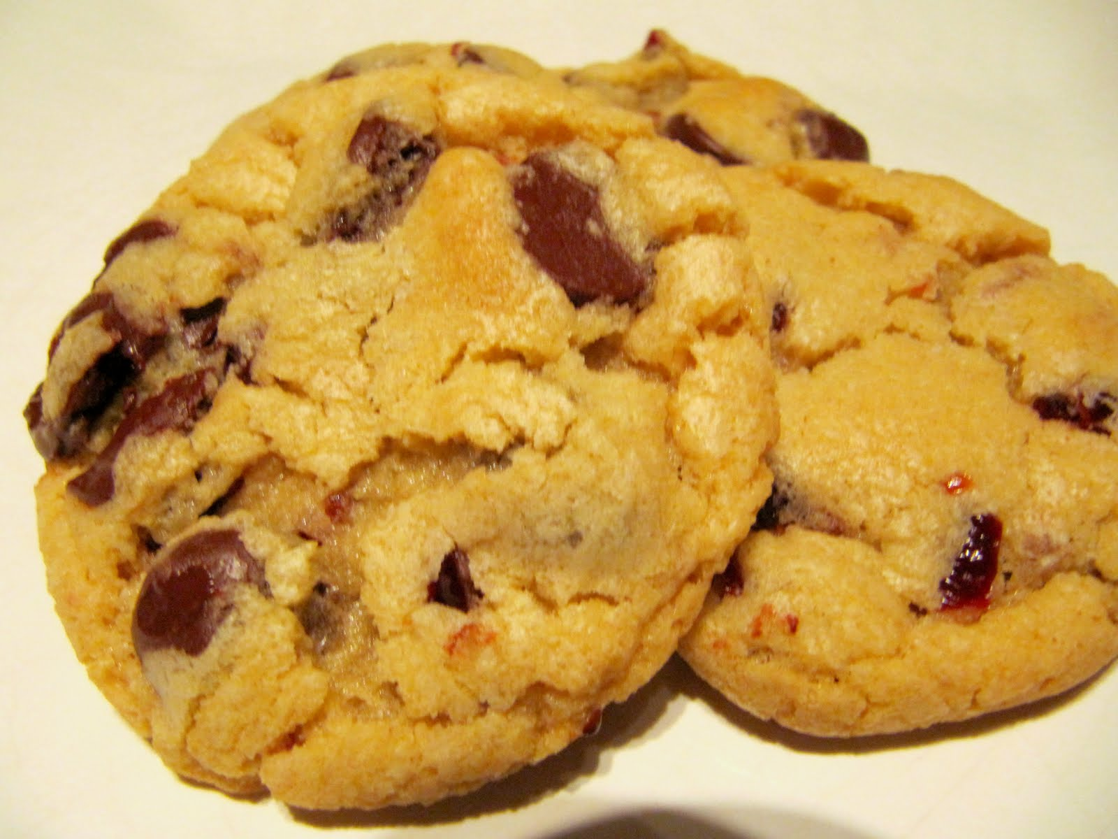 Double Chocolate Dried Cherry And Toffee Bit Cookies Recipe ...