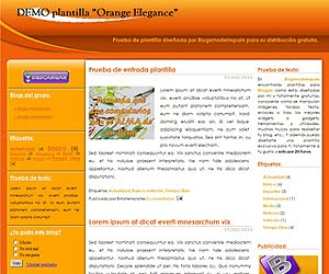 Descargar plantilla Orange Elegance