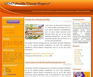 Descargar plantilla Orange Elegance