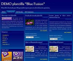 Descargar plantilla Blue Fusion