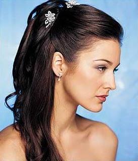 Penteados de festa quase solto 48 Penteados para Noivas e Madrinhas