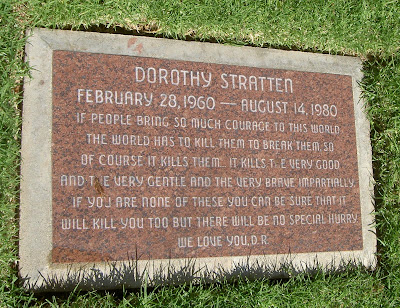 Dorothy Strattens Memorial Epitaph Needs To Go