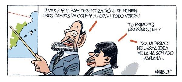 Ansar y Rajoy juegan al golf