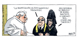 Papa negociando