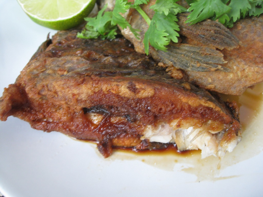 My asian kitchen fried tilapia with sambal belacan sauce for Fried tilapia fish