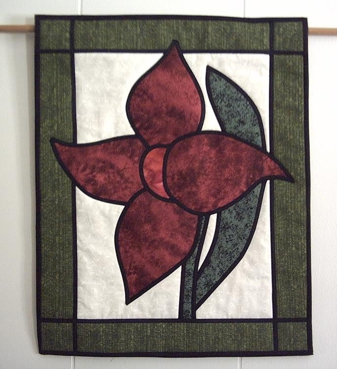 Online Quilt Classes Quilting Patterns Stained Glass Lily Quilt