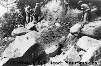 workers from the CCC working on the Bull Head Trail